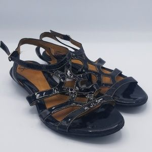 Sofft patent leather sandals